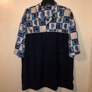 South Pole Men's Casual Button Up Shirt Size Large